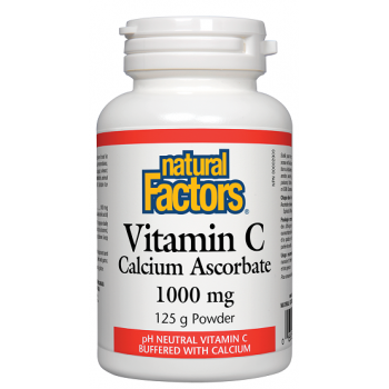 Vitamin C Calcium Ascorbate 1000 mg 125 gr I Natural Factors