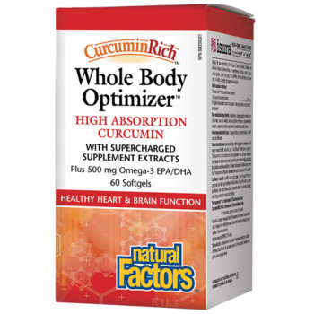 Whole Body Optimizer 2117 mg 60 softgels | Natural Factors