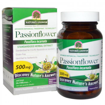 Passionflower 500 mg 60 Veggie Capsules I Nature`s Answer