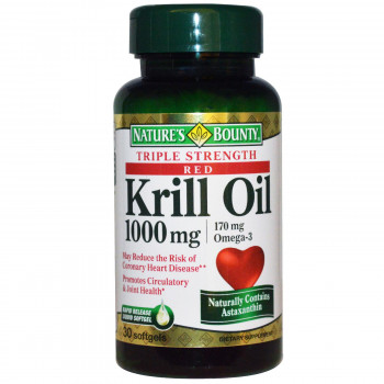 Krill Oil (Крил Ойл) 1000 мг 30 дражета   Nature's Bounty