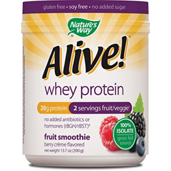 Alive Whey Protein 100 % Isolate Berry Creme Nature`s Way