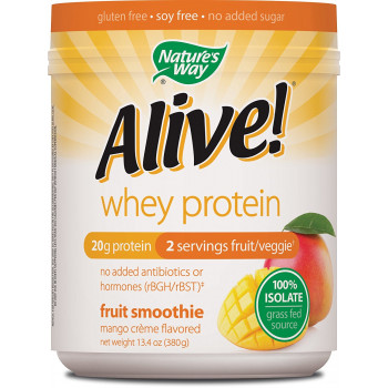 Alive Whey Protein 100 % Isolate Mango Creme 380 gr Nature`s Way
