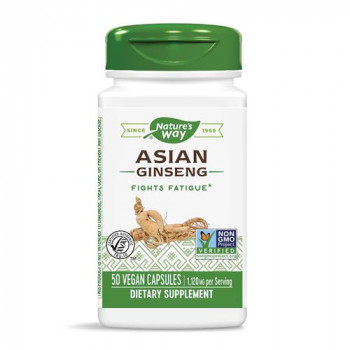 Asian Ginseng 560 мг 50 веган капсули | Nature's Way