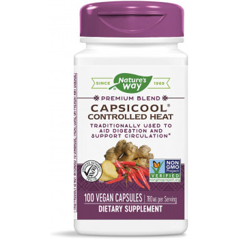 CapsiCool Controlled Health 390 мг 100 веган капсули | Nature's Way