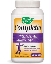 Completia Prenatal Multi-Vitamin With Iron 240 таблетки | Nature's Way