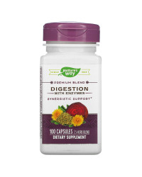 Digestion with Enzymes 100 капсули | Nature's Way
