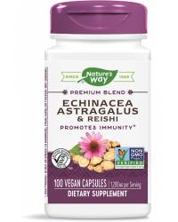 Echinacea & Astragalus & Reishi 400 мг 100 капсули I Nature`s Way