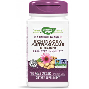 Echinacea & Astragalus & Reishi 400 мг 100 веган капсули | Nature's Way