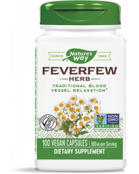 Feverfew Herb 380 мг 100/180 веган капсули | Nature`s Way
