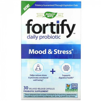 Fortify Daily Probiotic Mood & Stress 30 капсули | Nature's Way