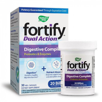 Fortify Dual Action Digestive Complete 30 веге капсули | Nature's Way