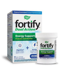 Fortify Dual Action Energy Support 30 веге капсули | Nature's Way