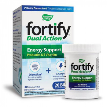Fortify™Dual Action Energy Support 30 капсули | Nature`s Way