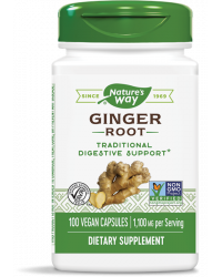 Ginger Root 550 мг 100 веган капсули | Nature's Way