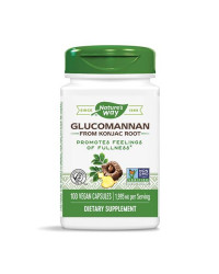 Glucomannan From Konjac Root 665 мг 100 веган капсули | Nature's Way
