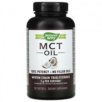 MCT Oil 1000 мг 100 гел-капсули | Nature's Way