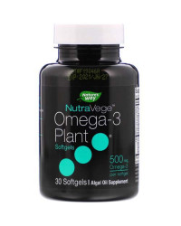 NutraVege Omega-3 Plant 500 мг 30 гел-капсули   Nature's Way
