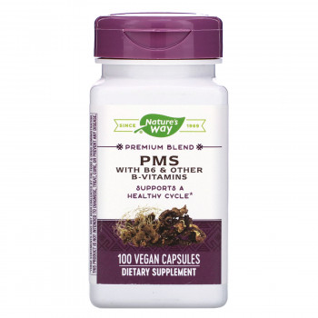 PMS With B6 & Other B-Vitamins 100 веган капсули   Nature's Way
