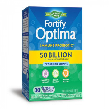 Fortify Optima Immune Probiotic 50 Billion CFU 30 веге капсули | Nature's Way
