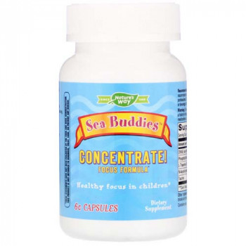 Sea Buddies Concentrate! Focus Formula 60 капсули | Nature's Way