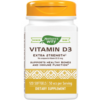 Vitamin D3 Extra Strenght 2000 IU гел-капсули | Nature's Way