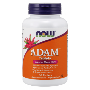 Витамини ADAM Male Multi 60/120 таблетки | Now Foods