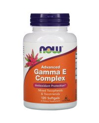 Advanced Gamma E Complex 120 дражета | Now Foods