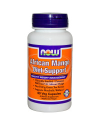 African Mango Diet Support 60 капсули | Now Foods