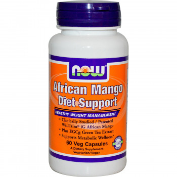 African Mango Diet Support 60 капсули Now Foods