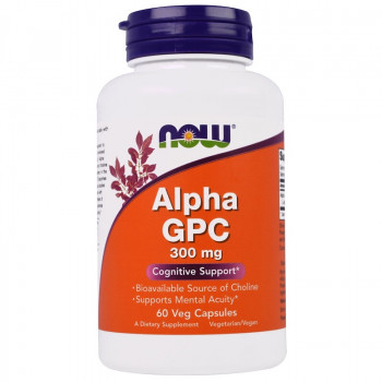 Alpha GPC 300 мг 60 капсули Now Foods