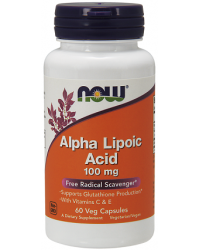 Alpha Lipoic Acid 100 мг 60/120 веге капсули | Now Foods
