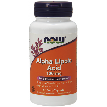 Alpha Lipoic Acid 100 мг 60 капсули I Now Foods