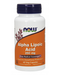 Alpha Lipoic Acid 250 мг 60 веге капсули | Now Foods