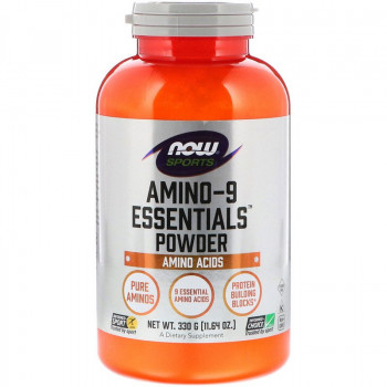 Amino-9 Essentials Прах 330 гр | Now Foods
