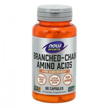 BCAA 60/120/240 капсули | Now Foods
