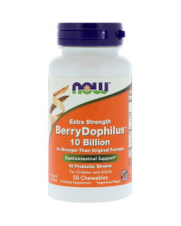 Extra Strength BerryDophilus 50 дъвчащи таблетки | Now Foods