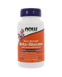 Beta 1.3/1.6 Glucan Extra Strength 250 мг 60 капсули Now Foods