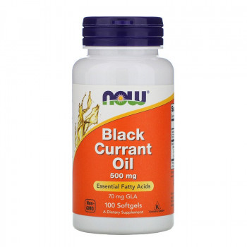 Black Currant Oil 500 мг 100 гел-капсули | Now Foods