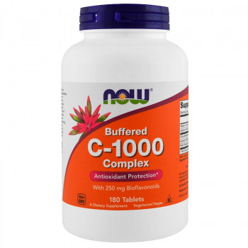 Buffered C-1000 Sustained Release 180 таблетки | Now Foods