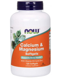 Calcium & Magnesium With Vitamin D-3 and Zinc 120 дражета | Now Foods
