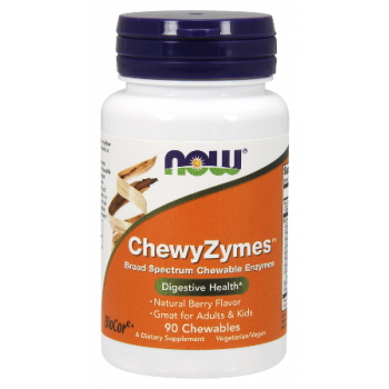 ChewyZymes 90 дъвчащи дражета | Now Foods