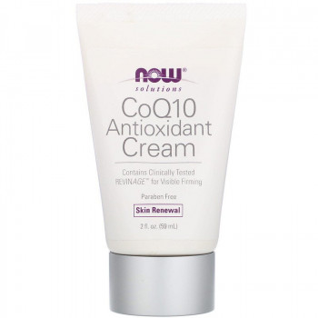 CoQ10 Antioxidant Cream 59 мл | Now Foods
