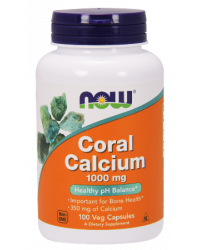 Coral Calcium 1000 мг 100 капсули | Now Foods