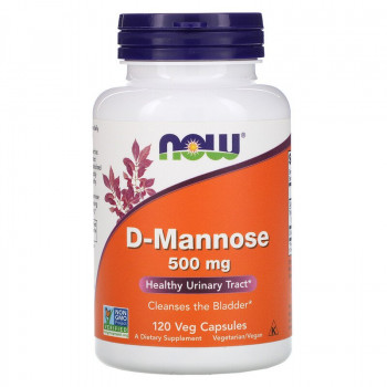 D-Mannose 500 мг 120 веге капсули | Now Foods