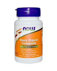 Dairy Digest Enzymes 90 капсули | Now Foods