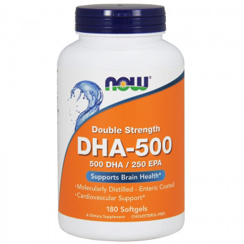 DHA-500 Double Strength 180 гел-капсули I Now Foods