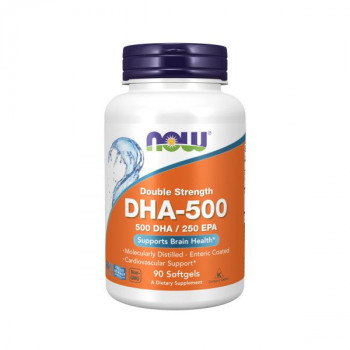 DHA-500 Double Strength 90/180 гел-капсули | Now Foods