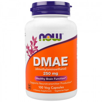 DMAE 250 мг 100 веге капсули | Now Foods