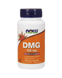 DMG (Диметил Глицин) 125 мг 100 капсули | Now Foods