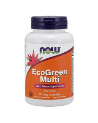 Мултивитамини Eco Green Multi 90/180 веге капсули | Now Foods